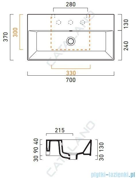 Catalano Premium 70 umywalka 70x37 biała 170VP00