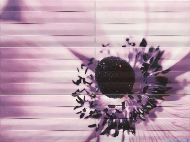 Tubądzin Maxima violet 2 dekor ścienny 6-elementowy 67,3x89,8