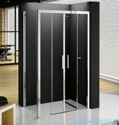 Novellini ElysiumPodwójne drzwi przesuwne KUADRA 2A 144 szkło przejrzyste profil chrom KUAD2A144-1K