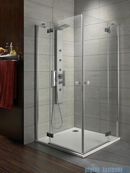 Radaway Kabina prysznicowa Almatea Kdd 90x100 szkło przejrzyste + brodzik Doros D + syfon 32183-01-01N