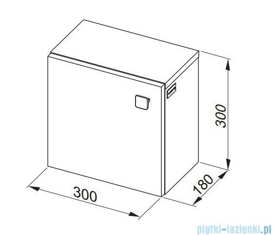 Aquaform Flex szafka wisząca kwadratowa biała 0410-640103
