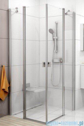 Ravak Chrome Kabina prysznicowa narożna, jedna połowa CRV2-110 biała+transparent 1QVD0100Z1