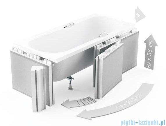 Zabudowa styropianowa elastyczna Schedpol z rantem 10cm do wanien 1.051