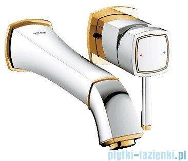 Grohe Bateria umywalkowa 2-otworowa Grandera chrom/złoty wysięg 234mm 19930IG0