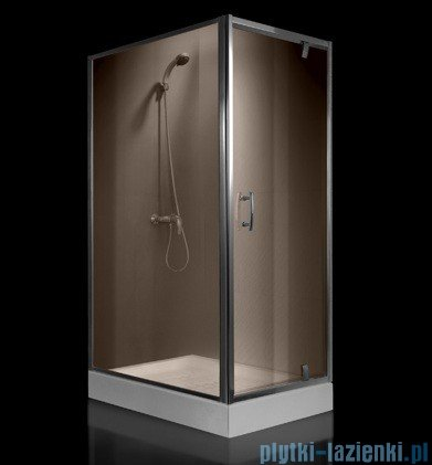 Omnires S kabina prostokątna 80x100x190cm szkło brązowe+brodzik S-80/100KBR/3.066