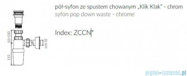 """Marmorin Półsyfon ze spustem chowanym """"Klik Klak"""" chrom ZCCN"""
