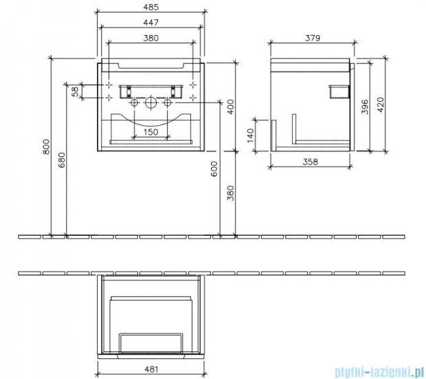 Villeroy&Boch Subway 2.0 Szafka podumywalkowa  kolor: Biały Mat    A68500MS