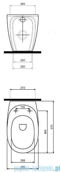 Koło Ego Miska Wc stojąca powłoka Reflex K13000900
