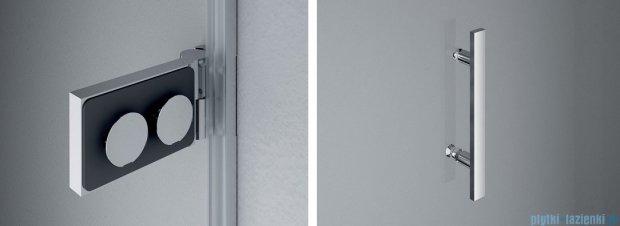 SanSwiss Pur PU31P Drzwi prawe wymiary specjalne do 200cm cieniowane czarne PU31PDSM41055