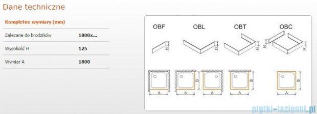 Sanplast Obudowa frontowa do brodzika OBF 180x12,5 cm 625-401-0410-01-000