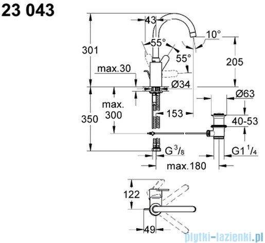 Grohe Eurostyle Cosmopolitan bateria umywalkowa DN 15 23043002