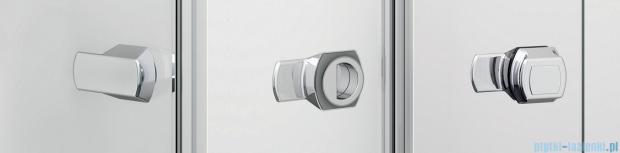 Sanswiss Melia ME13 Drzwi ze ścianką w linii z uchwytami lewe do 120cm pas satynowy ME13WGSM11051