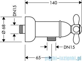 Hansgrohe Axor Montreux 2-uchwytowa bateria prysznicowa DN15, montaż natynkowy chrom 17630000