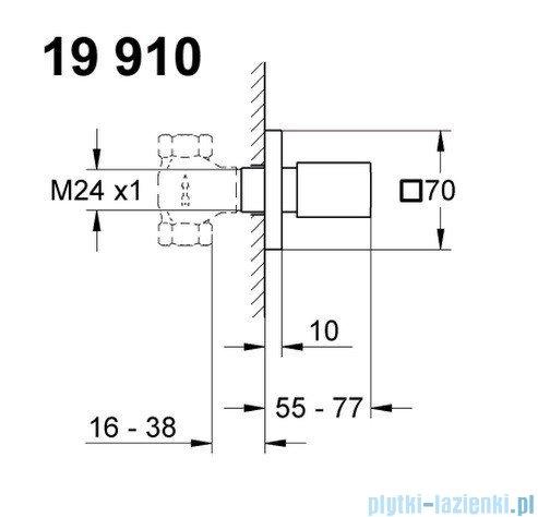 Grohe Eurocube element zewnętrzny zaworu podtynkowego 19910000