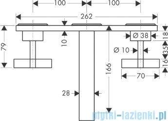 Hansgrohe Axor Citterio 3-otworowa bateria umywalkowa ścienna podtynkowa 39314000