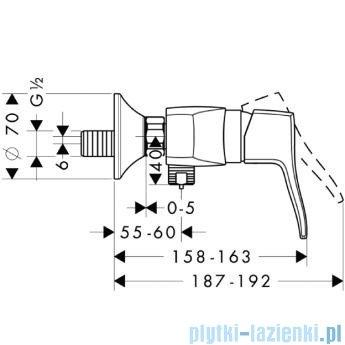 Hansgrohe Metris Classic Jednouchwytowa bateria prysznicowa DN15 31672000