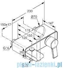 Kludi O-Cean Bateria wannowo-natryskowa chrom 387700575