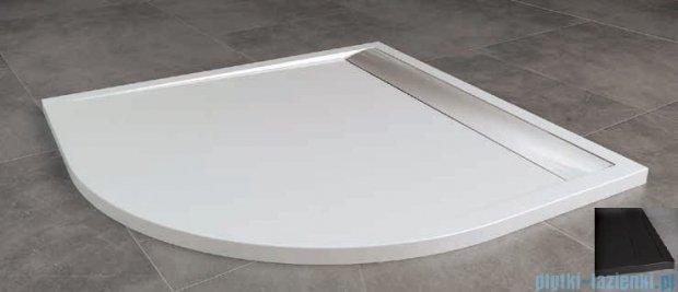 SanSwiss Ila Wir Brodzik półokrągły 80x80cm kolor czarny/czarny WIR5508006154