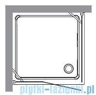 Kerasan Kabina kwadratowa prawa szkło przejrzyste profile chrom 100x100 Retro 9149T0