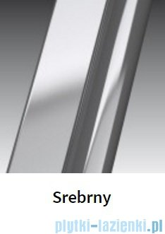 Novellini Ścianka boczna GIADA 84 cm szkło przejrzyste profil srebrny GIADNF2B84-1B