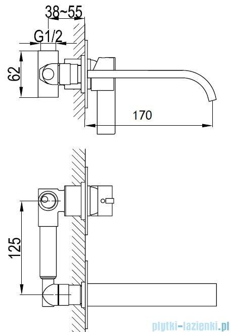Kohlman Dexame Podtynkowa bateria umywalkowa QW180D