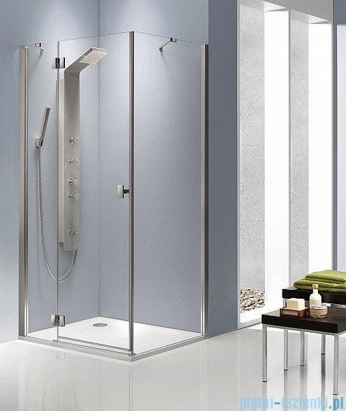 Radaway Kabina prysznicowa Essenza KDJ 80x100 lewa szkło przejrzyste + brodzik Doros D + syfon 32849-01-01NL