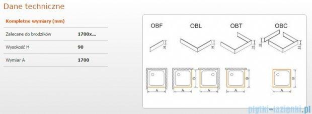 Sanplast Obudowa frontowa do brodzika OBF 170x9 cm 625-400-0400-01-000