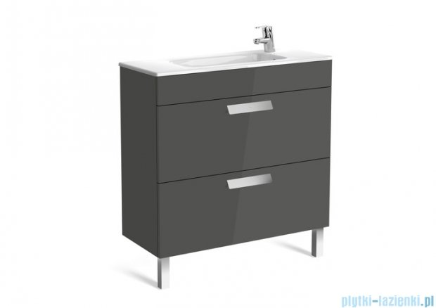 Roca Debba Unik Compacto 80 zestaw łazienkowy z 2 szufladami wenge tekstura A855907154
