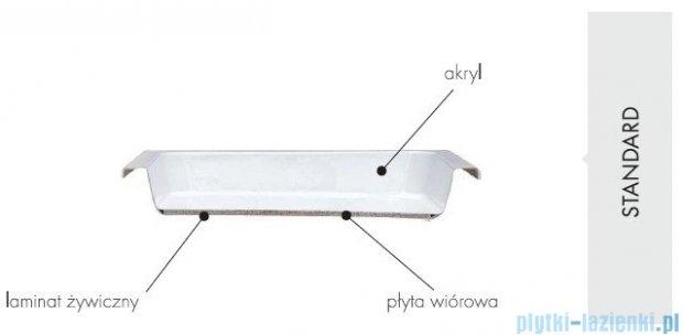 Schedpol Eko 2.0 brodzik akrylowy półokrągły 80x80x16cm R55 3.322