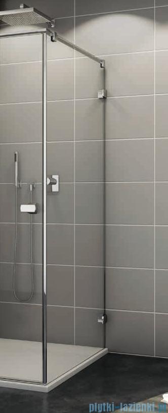 Sanswiss Melia MET3 Ścianka prawa z uchwytami i profilem 30-90/do 200cm cieniowane czarne MET3ADSM11055