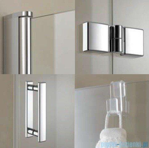 Kermi Diga Drzwi wahadłowo-składane, lewe, szkło przezroczyste, profile srebrne 80x200 DI2DL08020VAK
