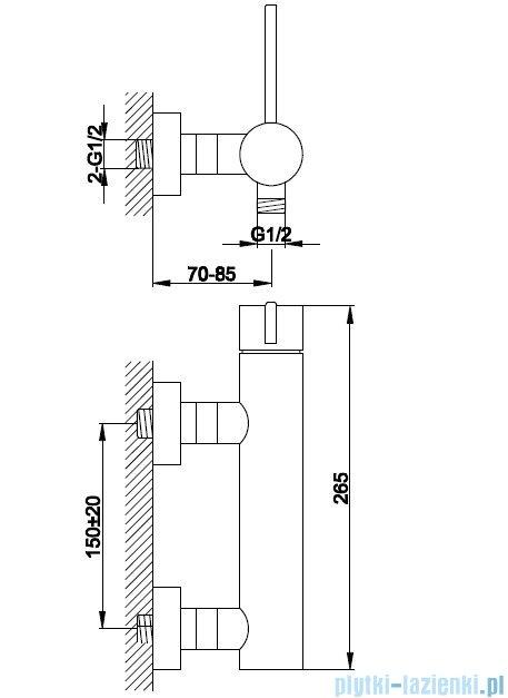 Kohlman Dexame Bateria prysznicowa QW120D