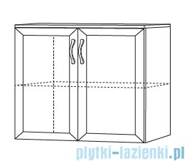 Antado Rustic szafka podumywalkowa 75x43x62 biała RST-141/75-14