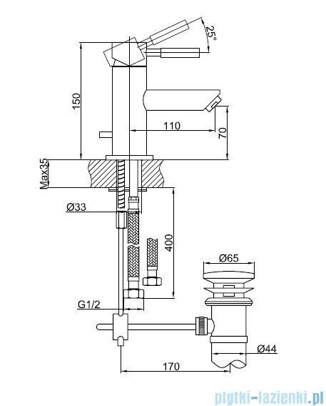 Kohlman Roxin bateria umywalkowa QB100R