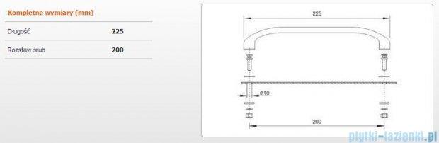 Sanplast Uchwyt do wanien-ZnAl 23 cm 661-A0011