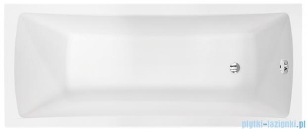 Besco Optima Premium 170x70cm Wanna prostokątna z uchwytami i zagłówkiem #WAO-170-PKP