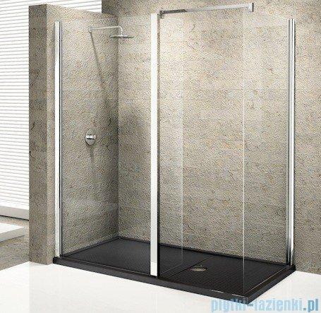 Novellini Elysium Kuadra H35 Ścianka boczna 100cm szkło przejrzyste profil chrom KUADH100-1K