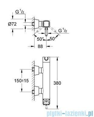Grohe Grandera jednouchwytowa bateria prysznicowa chrom 23316000