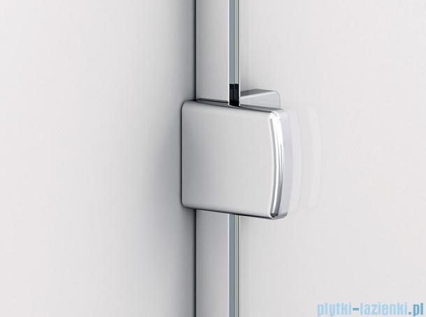 Sanswiss Melia ME13 Drzwi ze ścianką w linii z uchwytami i profilem prawe do 120cm przejrzyste ME13ADSM11007