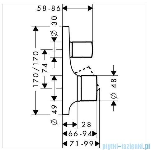 Hansgrohe Axor Jednouchwytowa bateria wannowa montaż podtynkowy 18455000