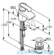 Kludi Joop Bateria umywalkowa jednouchwytowa DN 10 chrom/szkło zielone 55024H775
