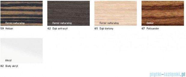 Duravit 2nd floor obudowa meblowa do wanny #700080 do wersji przyściennej dąb antracyt 2F 8777 62