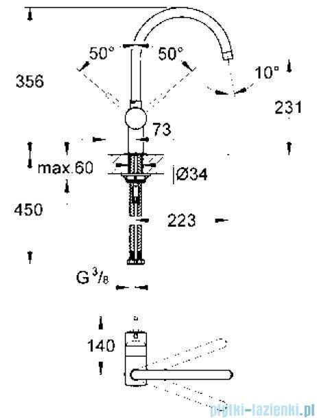 Grohe Minta jednouchwytowa bateria zlewozmywakowa DN 15 chrom 32917000