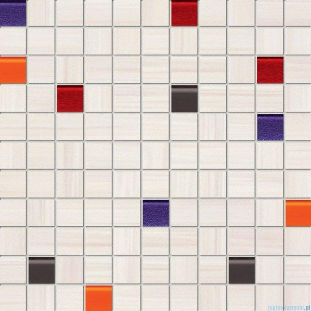 Tubądzin Wave white mozaika ścienna 30x30