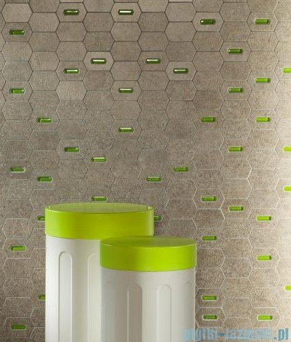 Tubądzin Lemon Stone white mozaika ścienna 25x29,8