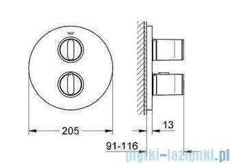 Grohe Ondus bateria termostatyczna do obsługi wiecej niż jednego wyjścia wody chrom 19442000