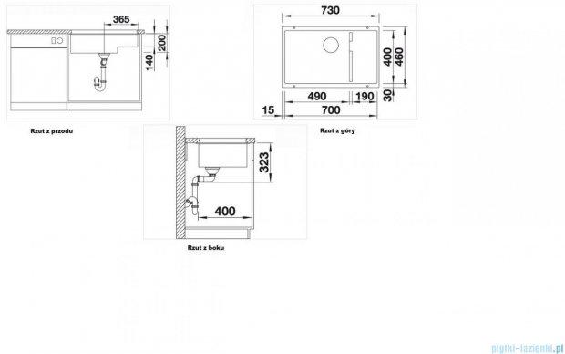 Blanco Subline 700-U Level zlewozmywak Silgranit PuraDur  kolor: kawowy  z k. aut. 518389