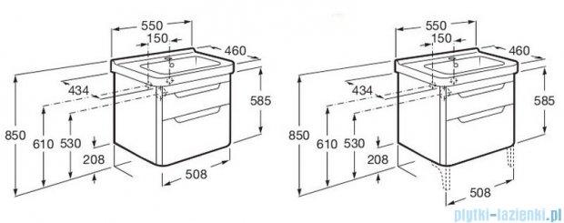 Roca Dama-n Unik 55 zestaw łazienkowy z 2 szufladami biała A851046806