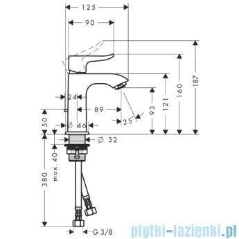 Hansgrohe Metris Jednouchwytowa bateria umywalkowa 100mm DN15 31088000