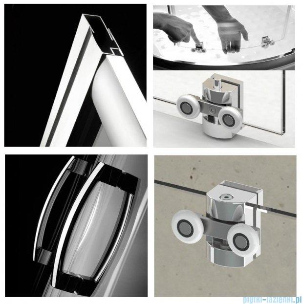 Radaway Premium Plus E Kabina półokrągła z drzwiami przesuwnymi 100x80x190cm szkło fabric 30491-01-06N
